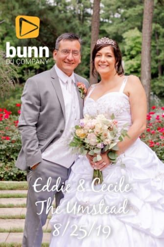 Umstead hotel wedding dj Bunn dj company