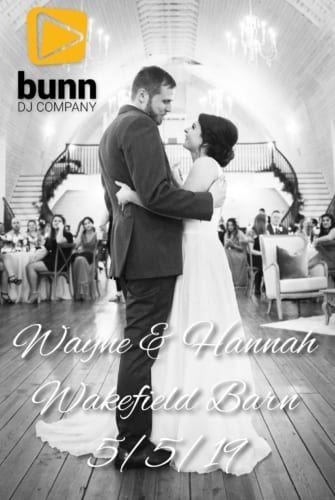 Wakefield barn wedding dj Bunn DJ company