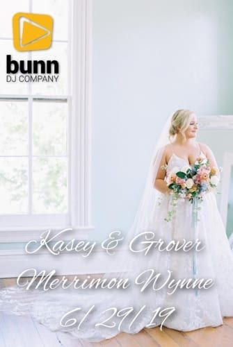 Merrimon Wynne wedding dj bunn dj company