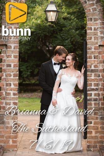 the Sutherland wedding dj Bunn DJ company
