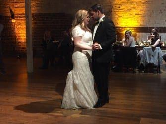 Sarah & Alex's surprise wedding first dance
