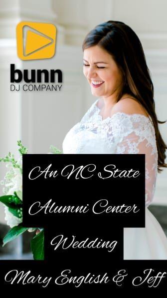 nc state alumni center dj wedding bunn dj company