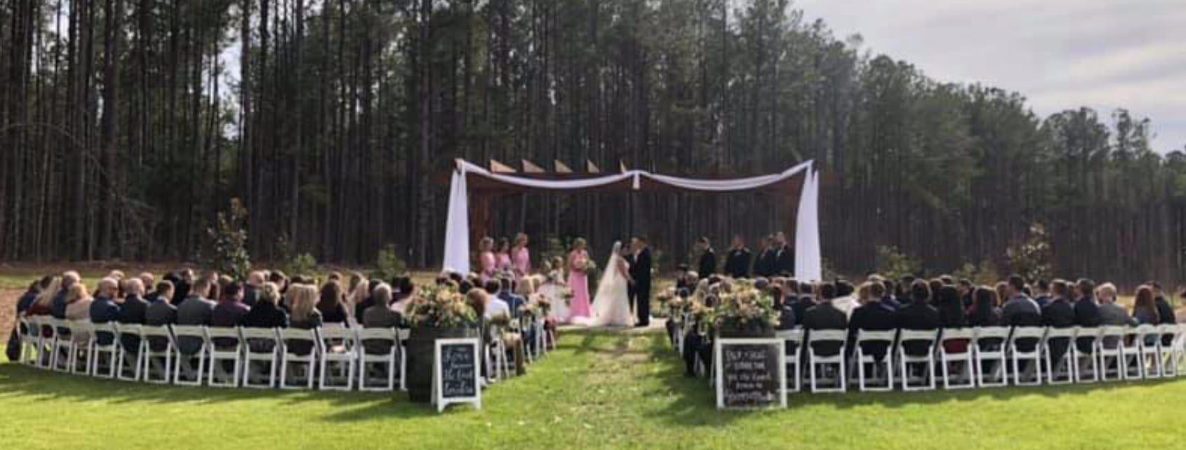 pavilion at carriage farm wedding dj Bunn Dj company